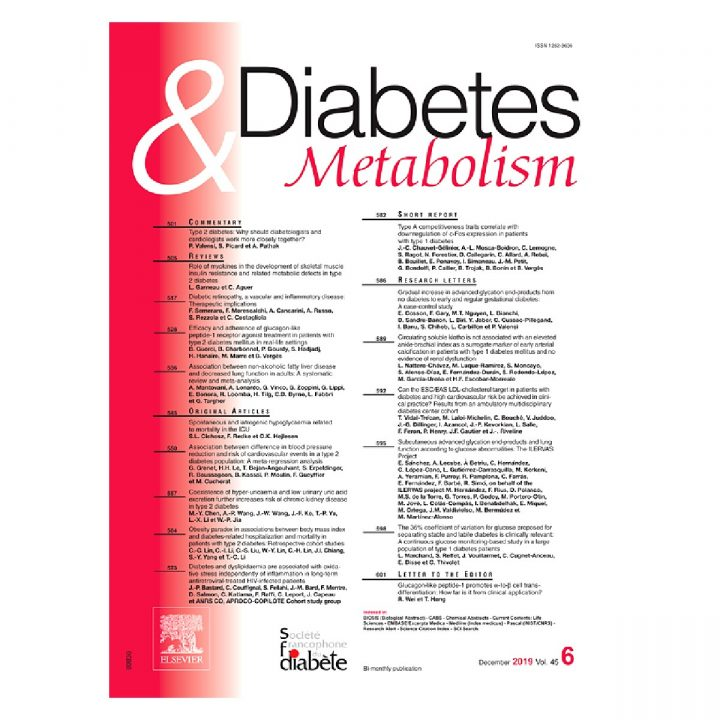 Frédéric Fumeron publishes in Diabetes & Metabolism