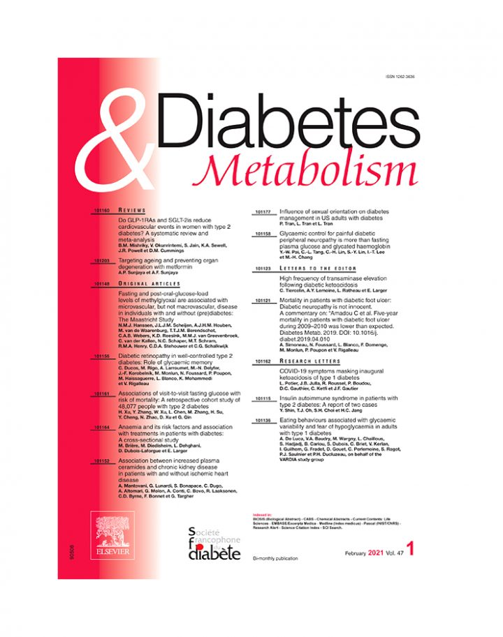 JF. Gautier publishes in Diabetes & Metabolism